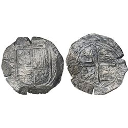 Mexico City, Mexico, cob 8 reales, Philip II or III, assayer F below mintmark oM to left, assayer oD