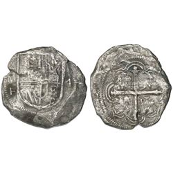 Mexico City, Mexico, cob 4 reales, Philip III, assayer F.