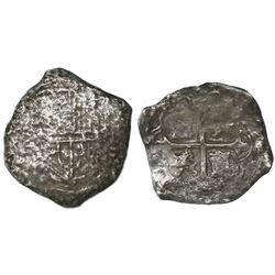 Mexico City, Mexico, cob 8 reales, Philip III, assayer not visible, Grade-3 quality (10 points), wit