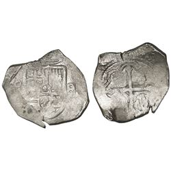 Mexico City, Mexico, cob 8 reales, Philip IV, assayer not visible (P).