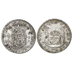 Mexico City, Mexico, pillar 4 reales, Philip V, 1739MF.