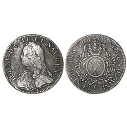 France (Poitiers mint), ecu, Louis XV, 1726-G.