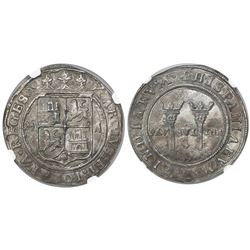 "Mexico City, Mexico, 4 reales, Charles-Joanna, ""Late Series,"" assayer A to right, mintmark M to left"