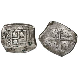Mexico City, Mexico, cob 4 reales, (17)13(J), with chopmark as from circulation in the Orient.