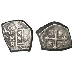 Mexico City, Mexico, cob 1 real, 1730R.