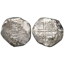 Seville, Spain, cob 8 reales, Philip III, assayer B.