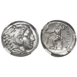 Kings of Macedon, AR tetradrachm, Alexander III ( the Great ), 336-323 BC, early posthumous issue, P