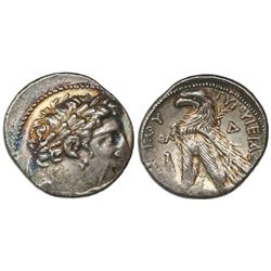 "Phoenicia, Tyre, AR tetradrachm ""shekel of Tyre,"" 126/5 BC-AD 67/8, dated CY 39 (88/7 BC)."