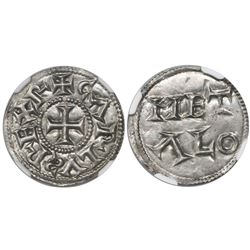 France (Melle mint), denier, Charles the Simple (898-929), immobilized type (mid-900s or later), enc