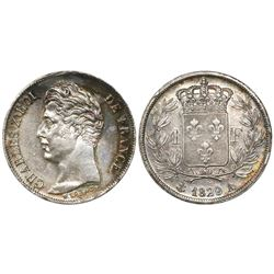 France (Paris mint), 1 franc, Charles X, 1829-A.