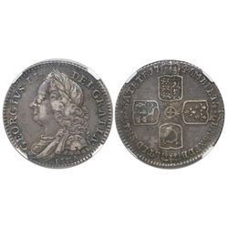 Great Britain (London, England), sixpence, George II, 1746, with LIMA below bust, encapsulated NGC X