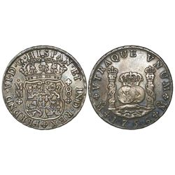 Mexico City, Mexico, pillar 8 reales, Ferdinand VI, 1756MM.