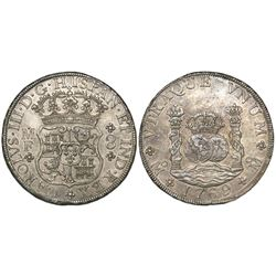 Mexico City, Mexico, pillar 8 reales, Charles III, 1769MF.