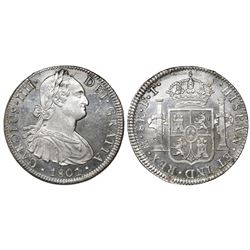 Mexico City, Mexico, bust 8 reales, Charles IV, 1801FT/FM.