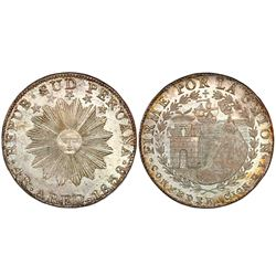 Arequipa, Peru, 4 reales, 1838MV, encapsulated NGC MS 64.