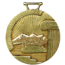 La Paz, Bolivia, engraved gold medal (mid-1900s), UMSA Architects Association / retirement of Villan