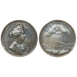 Great Britain, bronze medal, Mary as Regent, ca. 1690.