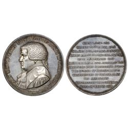 Great Britain, silver medal, 1827, John Scott, Earl of Eldon, Lord Chancellor, by Carl Voigt.