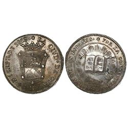 Guatemala, 2R-sized silver medal, 1812, Spanish Constitution.