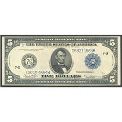 USA (Washington, D.C.), 5 dollars, series 1914.
