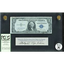 USA, 1 dollar, series 1935E*, salvaged from the Andrea Doria (1956), certified PCGS Grade A.