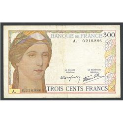 France, Banque de France, 300 francs, ND (1938).