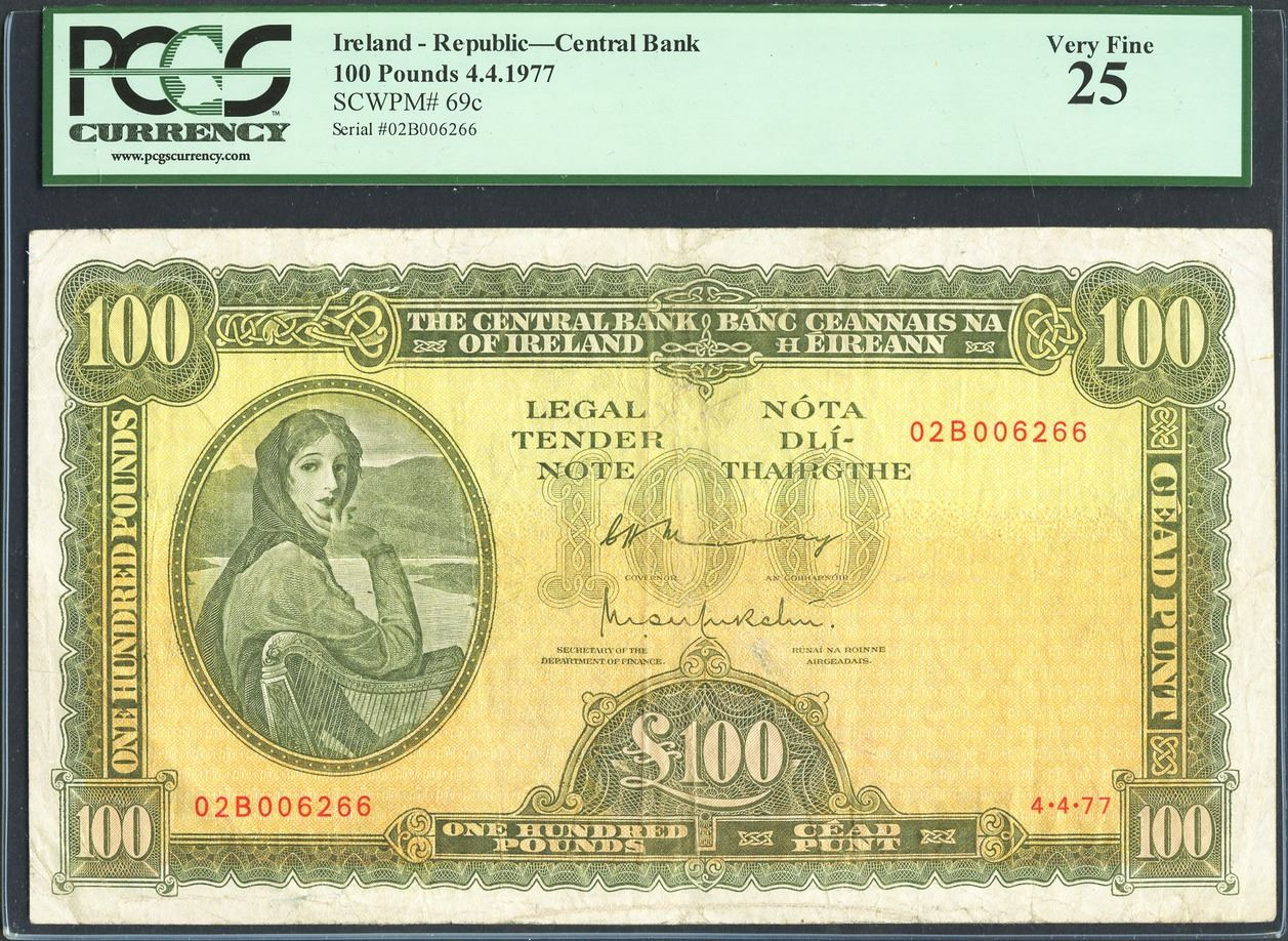 Image 1 Ireland Central Bank Of 100 Pounds 4