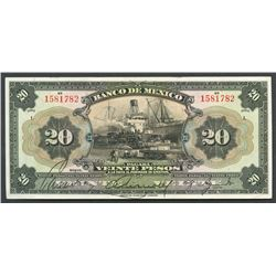Mexico City, Mexico, Banco de Mexico, 20 pesos, ND (1925-34), series I.