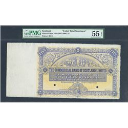 Edinburgh, Scotland, Commercial Bank of Scotland Limited, 5 pounds sterling color trial specimen, ND