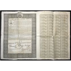 Federal Republic of Central America loan bond for 250 pounds sterling, cancelled, dated 22-8-1825.