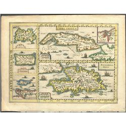Italian copperplate-engraved map of Cuba, Hispaniola, Jamaica, Puerto Rico, and Margarita by Gregori