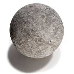 Large stone cannonball from the Spanish Armada (1588).
