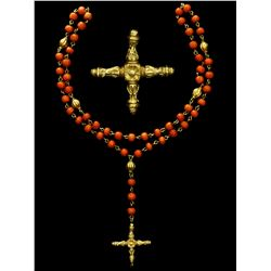 Gold and red-coral rosary from the Atocha 1622, ex-Christie's (1988), ex-Mathewson (1986), ex-Queens