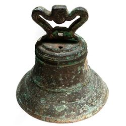 Spanish bronze ship's bell from an unidentified 1600s Florida Keys wreck.