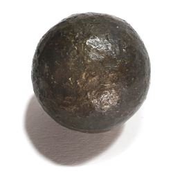 Small bronze cannonball from an unidentified 1600s-1700s Haiti wreck.