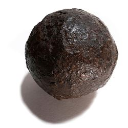 Iron cannonball from the 1715 Fleet wreck.