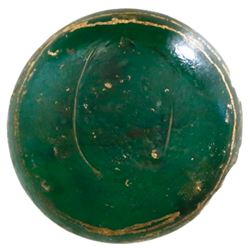 Green glass trade ingot from the Hindostan (1803).