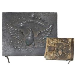 Bronze US Army belt buckle, ca. 1840s.