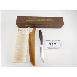 DH RUSSELL BELT KNIFE WITH SHEATH