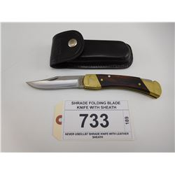 SHRADE FOLDING BLADE KNIFE WITH SHEATH