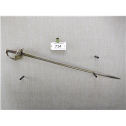 1827 PATTERN RIFLE OFFICER'S SWORD, NO SCABBARD