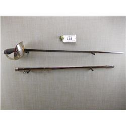 RCMP OFFICIERS SWORD AND SCABBARD