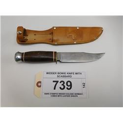 WIDDER BOWIE KNIFE WITH SCABBARD