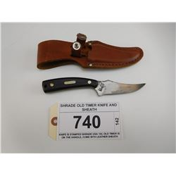 SHRADE OLD TIMER KNIFE AND SHEATH
