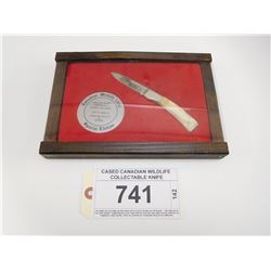 CASED CANADIAN WILDLIFE COLLECTABLE KNIFE