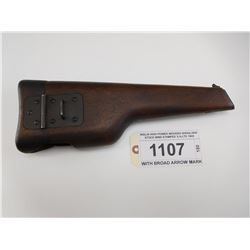 INGLIS HIGH POWER WOODED SHOULDER STOCK WWII STAMPED S.A.LTD 1945