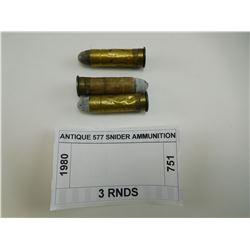 ANTIQUE 577 SNIDER AMMUNITION