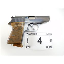 WALTHER , MODEL: PPK , CALIBER: 22 LR