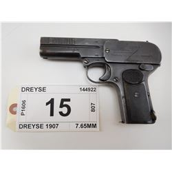 DREYSE , MODEL: DREYSE 1907 , CALIBER: 7.65MM