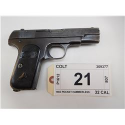 COLT , MODEL: 1903 POCKET HAMMERLESS , CALIBER: 32 CAL
